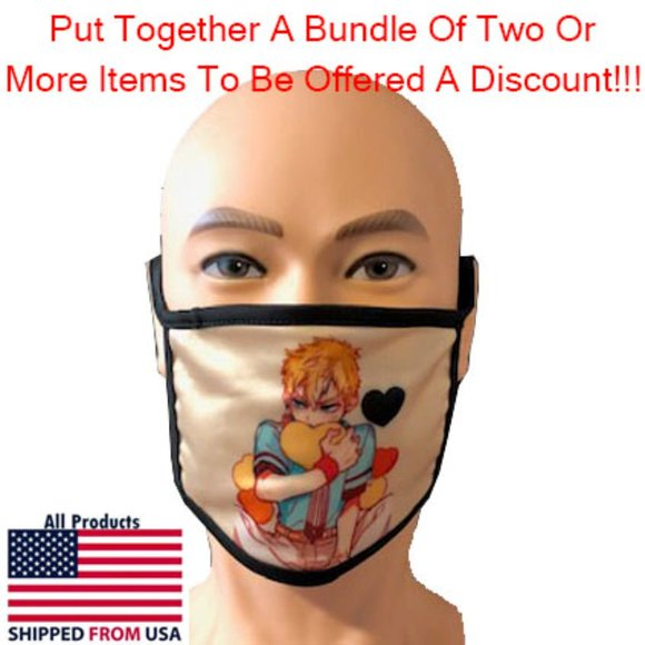 Generic Accessories Washable Kids Anime Face Mask 9 Poshmark The anime teeth face mask with stretchy adjustable earloops for closely fit, easy to wear and off! washable kid s anime face mask 19